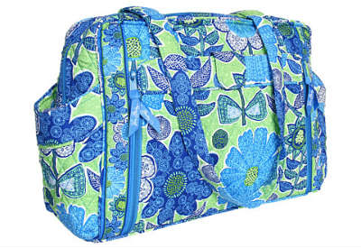 Vera Bradley's doodle daisy make a change baby bag