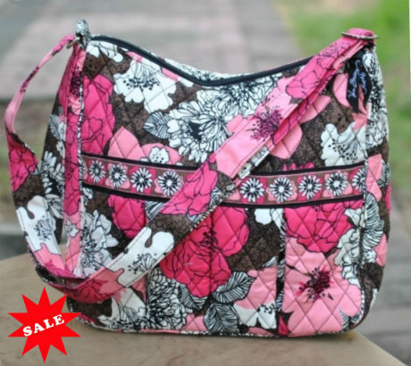 vera bradley moms day out mocha rouge