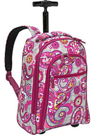 paisley meets plaid rolling backpack vera bradley